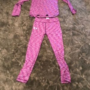 Under Armour Matching Sets - Under armor girl top and bottom size 6X